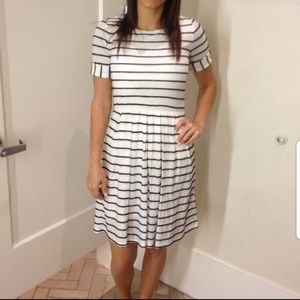 Bordeaux striped dress by Anthropologie size L/G